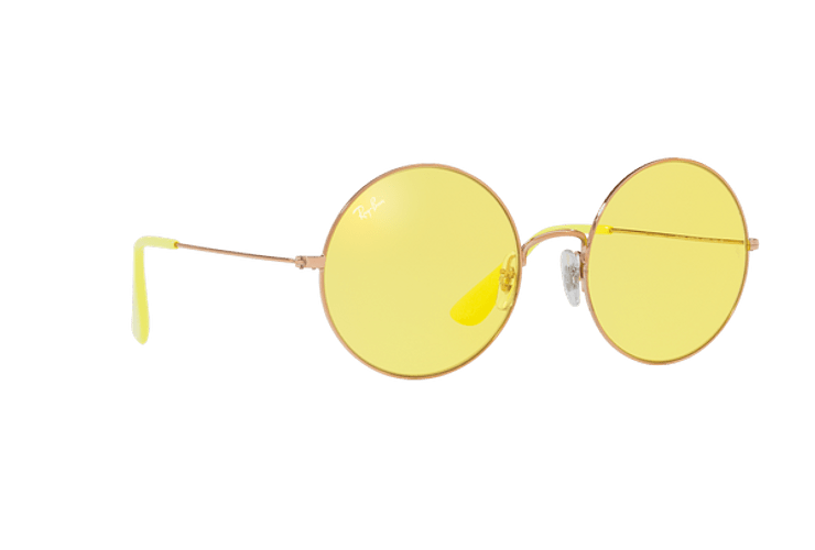 Ray Ban Ja-jo Round Shiny Copper lente Yellow Classic cod. RB3592 9035C9 55 - Image 11