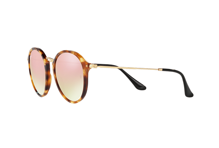 Ray Ban Round Fleck Spotted Brown Havana lente Copper Flash Gradient cod. RB2447 11607O 52 - Image 2
