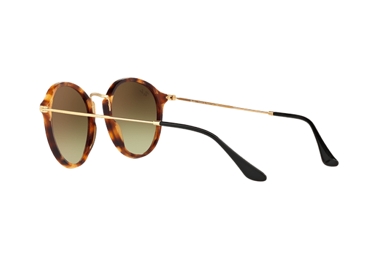 Ray Ban Round Fleck Spotted Brown Havana lente Copper Flash Gradient cod. RB2447 11607O 52 - Image 4
