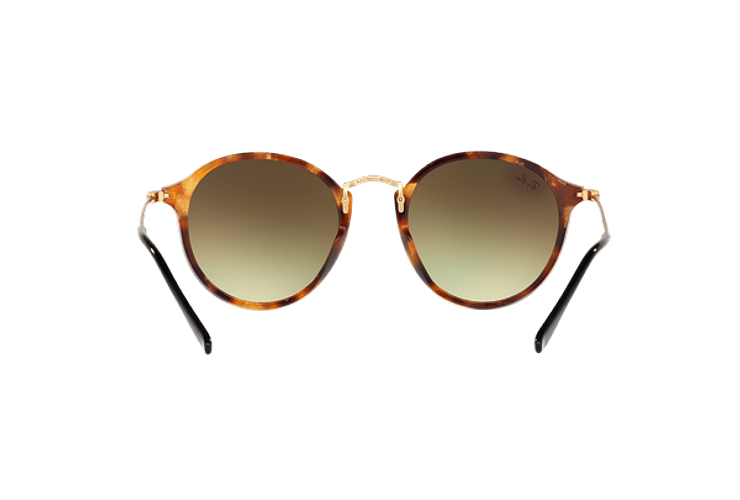 Ray Ban Round Fleck Spotted Brown Havana lente Copper Flash Gradient cod. RB2447 11607O 52 - Image 6