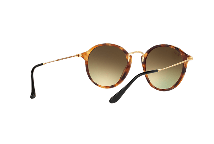 Ray Ban Round Fleck Spotted Brown Havana lente Copper Flash Gradient cod. RB2447 11607O 52 - Image 7
