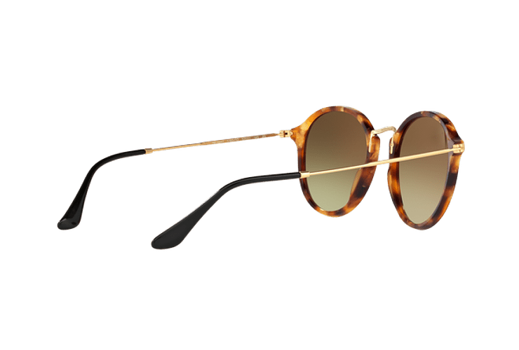 Ray Ban Round Fleck Spotted Brown Havana lente Copper Flash Gradient cod. RB2447 11607O 52 - Image 8