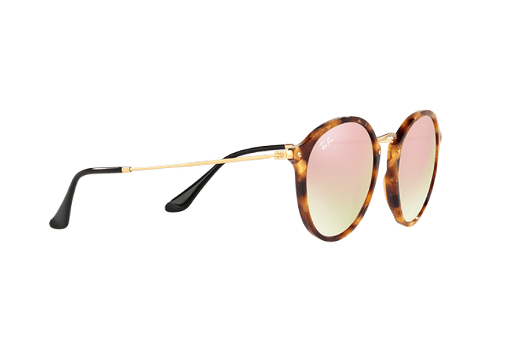 Ray Ban Round Fleck Spotted Brown Havana lente Copper Flash Gradient cod. RB2447 11607O 52 - Image 10