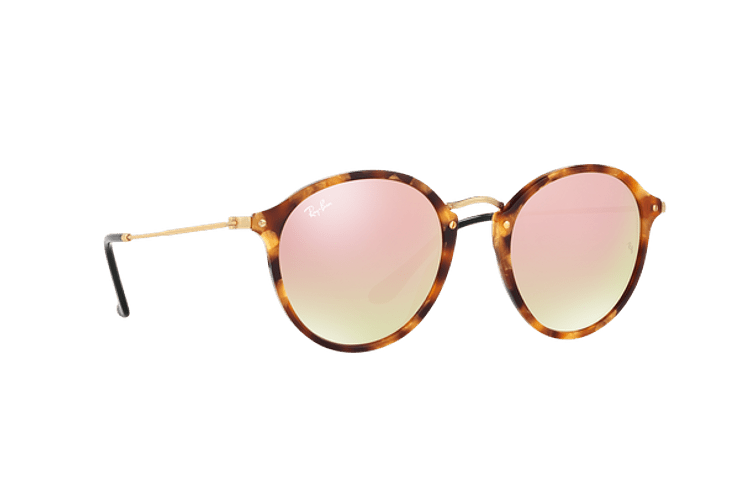 Ray Ban Round Fleck Spotted Brown Havana lente Copper Flash Gradient cod. RB2447 11607O 52 - Image 11