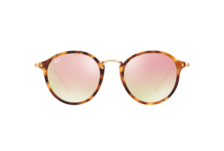 Ray Ban Round Fleck Spotted Brown Havana lente Copper Flash Gradient cod. RB2447 11607O 52 - Image 12