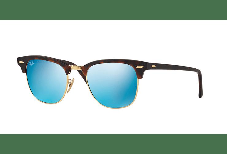 Ray Ban Clubmaster Sand Havana / Gold lente Blue Mirror cod. RB3016 114517 51 - Image 1