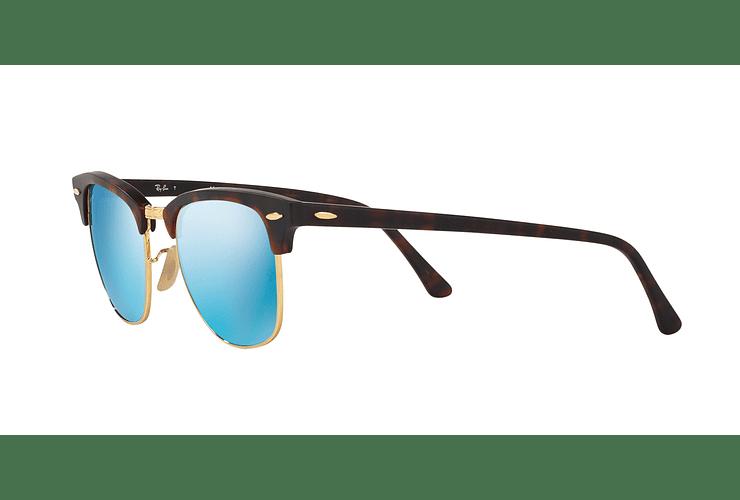 Ray Ban Clubmaster Sand Havana / Gold lente Blue Mirror cod. RB3016 114517 51 - Image 2