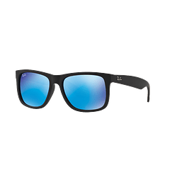 Ray Ban Justin Black Rubber lente Blue Mirror cod. RB4165 622/55 54
