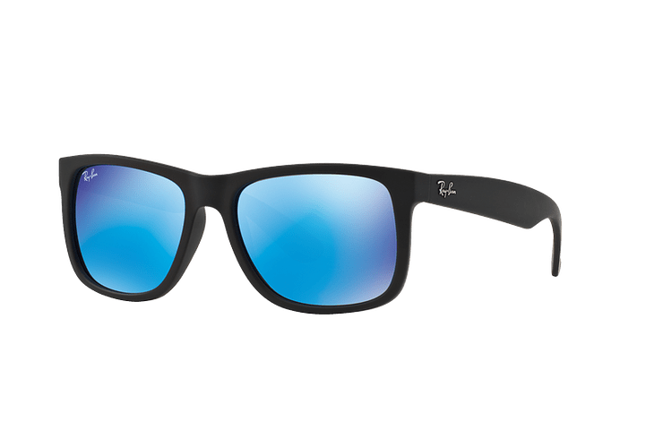 Ray Ban Justin Black Rubber lente Blue Mirror cod. RB4165 622/55 54 - Image 1