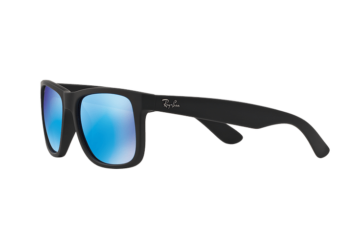 Ray Ban Justin Black Rubber lente Blue Mirror cod. RB4165 622/55 54 - Image 2