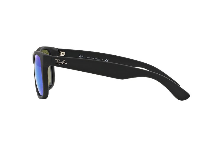 Ray Ban Justin Black Rubber lente Blue Mirror cod. RB4165 622/55 54 - Image 3