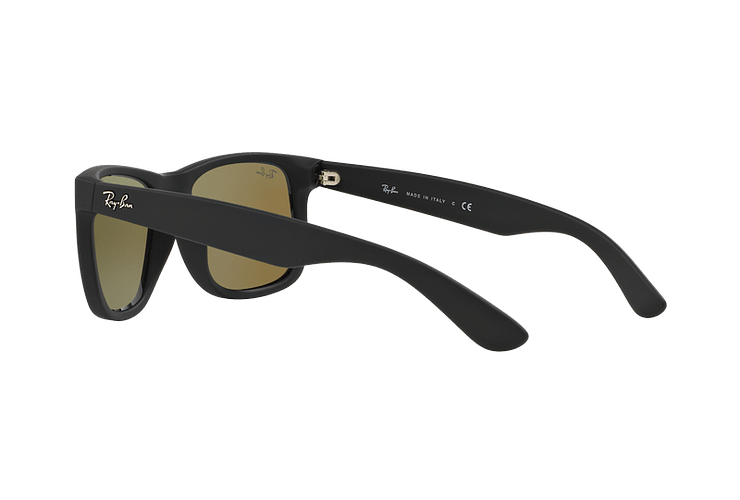 Ray Ban Justin Black Rubber lente Blue Mirror cod. RB4165 622/55 54 - Image 4