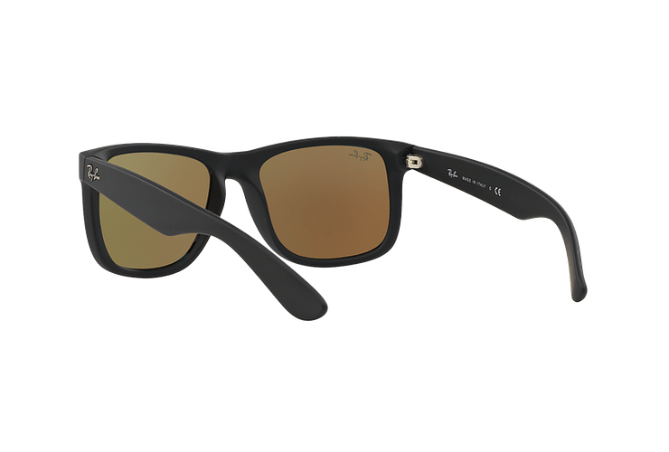 Ray Ban Justin Black Rubber lente Blue Mirror cod. RB4165 622/55 54 - Image 5