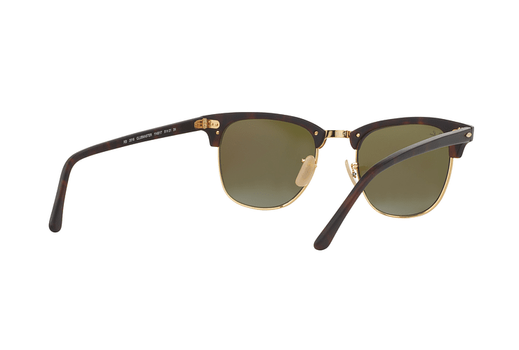 Ray Ban Clubmaster Sand Havana / Gold lente Blue Mirror cod. RB3016 114517 51 - Image 7