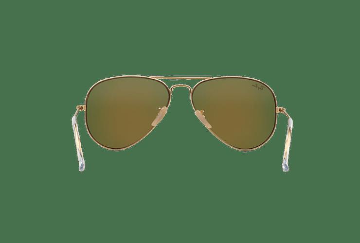 Ray Ban Aviador Matte Gold lente Crystal Mirror Orange cod. RB3025 112/69 62 - Image 6