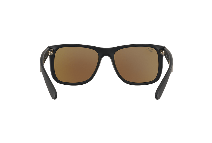 Ray Ban Justin Black Rubber lente Blue Mirror cod. RB4165 622/55 54 - Image 6