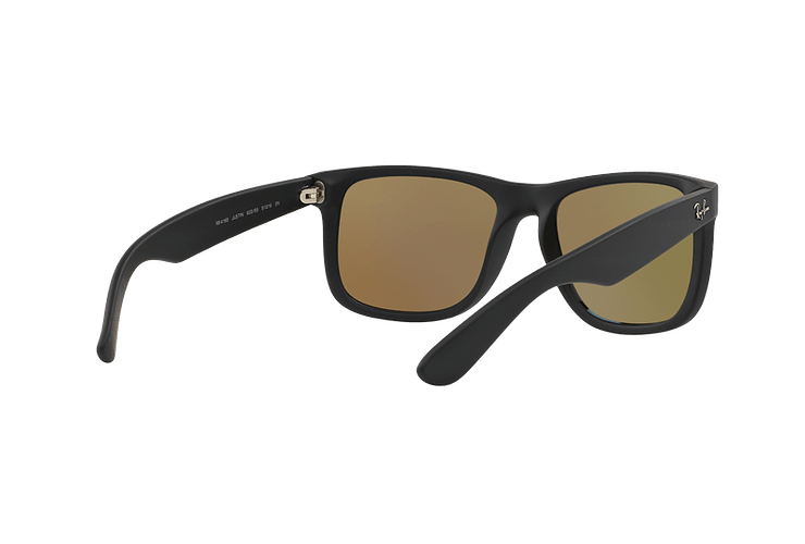 Ray Ban Justin Black Rubber lente Blue Mirror cod. RB4165 622/55 54 - Image 7