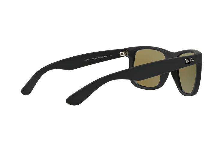 Ray Ban Justin Black Rubber lente Blue Mirror cod. RB4165 622/55 54 - Image 8