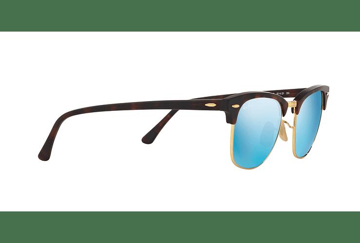 Ray Ban Clubmaster Sand Havana / Gold lente Blue Mirror cod. RB3016 114517 51 - Image 10