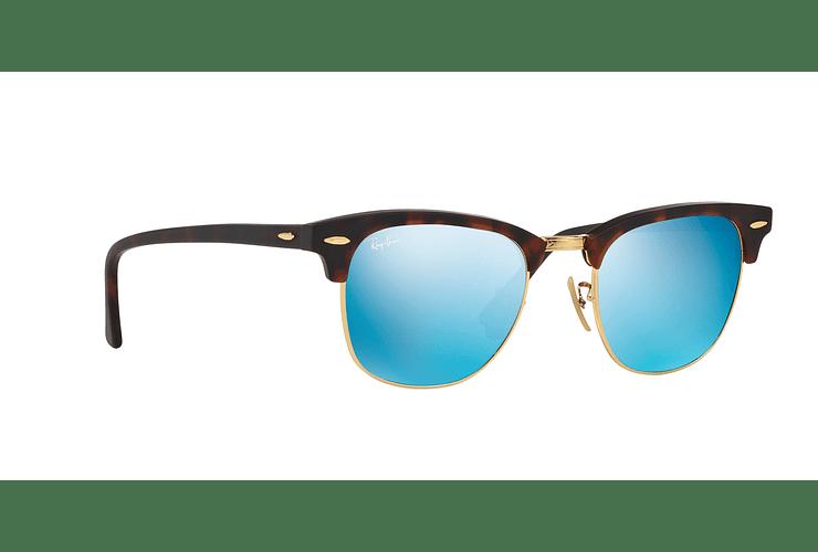 Ray Ban Clubmaster Sand Havana / Gold lente Blue Mirror cod. RB3016 114517 51 - Image 11