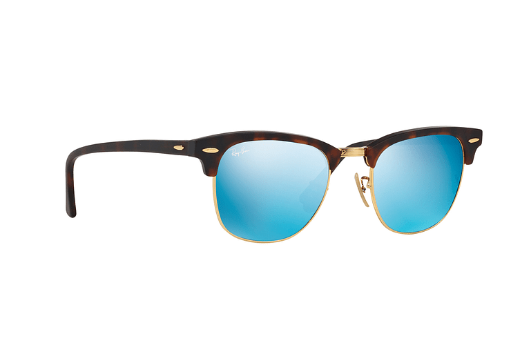 Ray Ban Clubmaster Sand Havana / Gold lente Blue Mirror cod. RB3016 114517 51 - Image 11