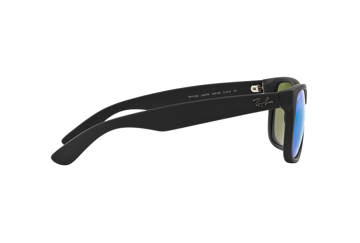 Ray Ban Justin Black Rubber lente Blue Mirror cod. RB4165 622/55 54 - Image 9
