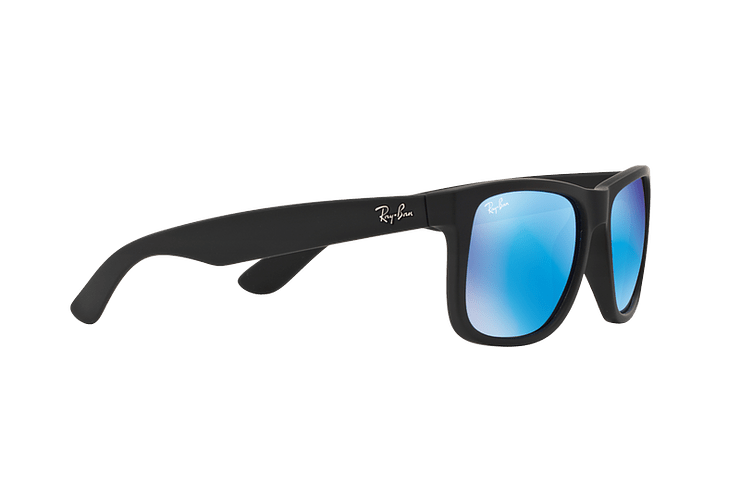 Ray Ban Justin Black Rubber lente Blue Mirror cod. RB4165 622/55 54 - Image 10