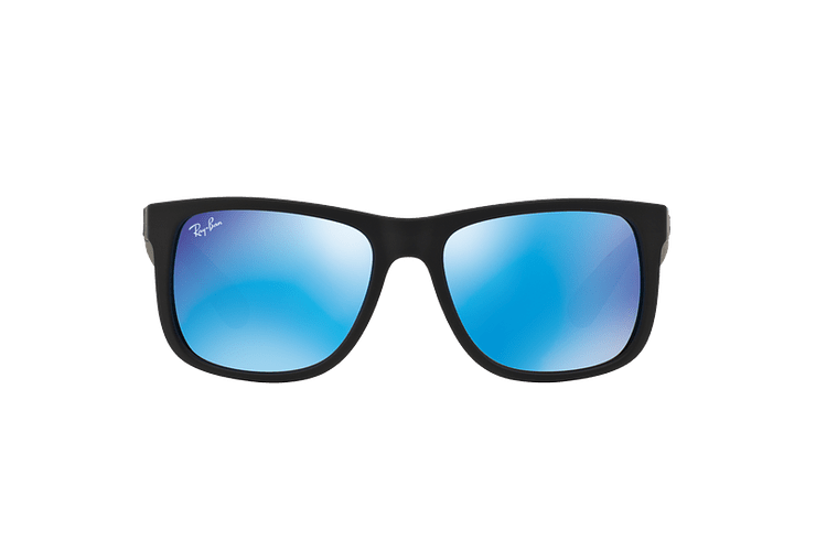 Ray Ban Justin Black Rubber lente Blue Mirror cod. RB4165 622/55 54 - Image 12