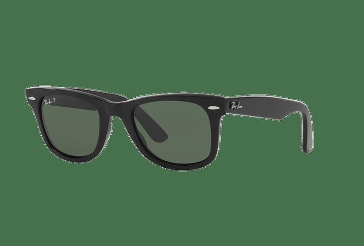 860fbf6e7f Ray Ban Wayfarer Black lente Crystal Green Polarized cod....