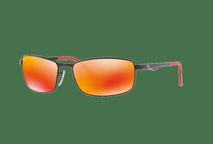 Ray Ban Active RB3498 Ed. Especial Ferrari Matte Black lente Orange Mirror Polarized cod. RB3498 006/6S 61 - Image 1