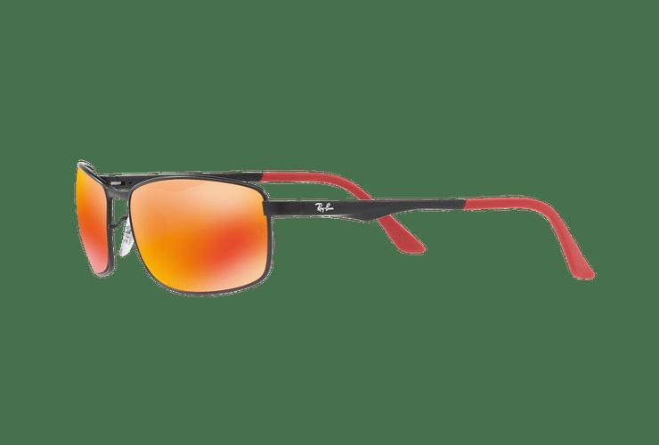 Ray Ban Active RB3498 Ed. Especial Ferrari Matte Black lente Orange Mirror Polarized cod. RB3498 006/6S 61 - Image 2