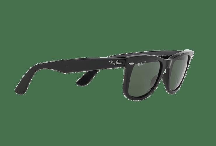 Ray-Ban Wayfarer Black lente Crystal Green Polarized cod. RB2140 901/58 54 - Image 10