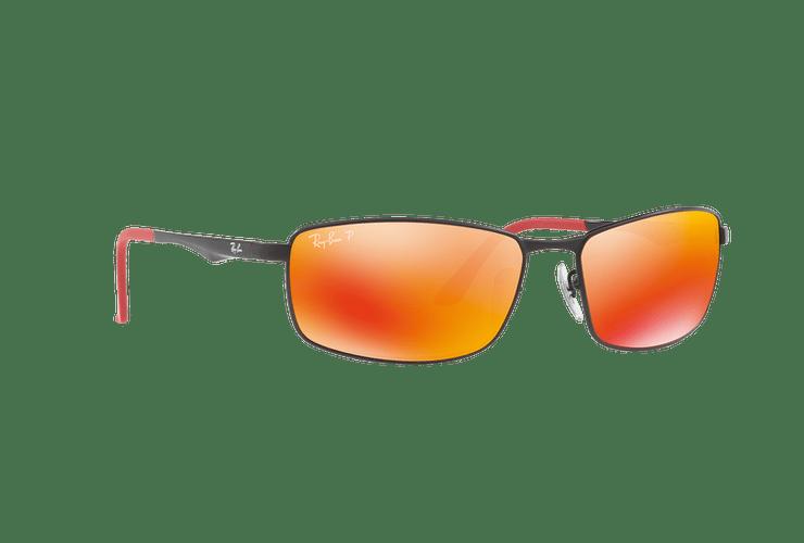Ray Ban Active RB3498 Ed. Especial Ferrari Matte Black lente Orange Mirror Polarized cod. RB3498 006/6S 61 - Image 11