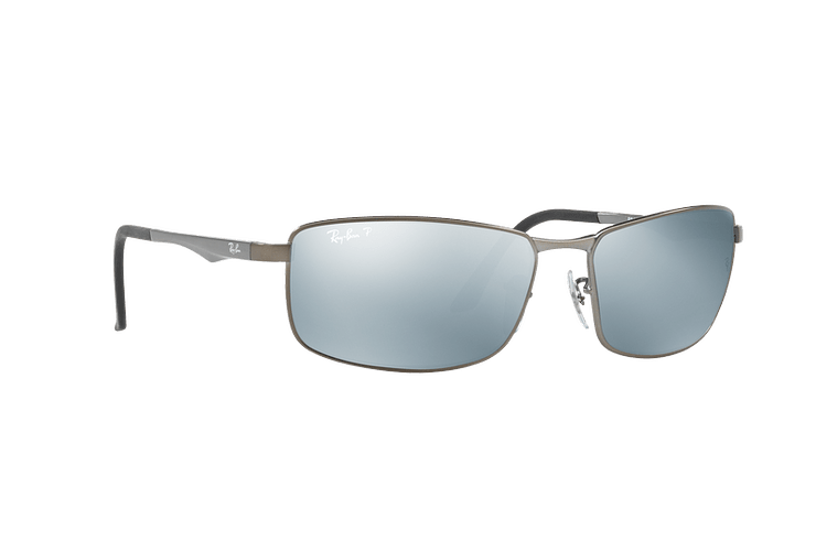 Ray Ban Active RB3498 Matte Gunmetal lente Silver Mirror Polarized cod. RB3498 029/Y4 61 - Image 11