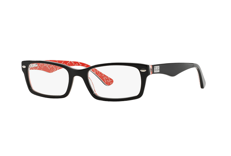 Armazón óptico Ray Ban Rectangular Top Black on Texture Red cod. RX5206 2479 54 - Image 1