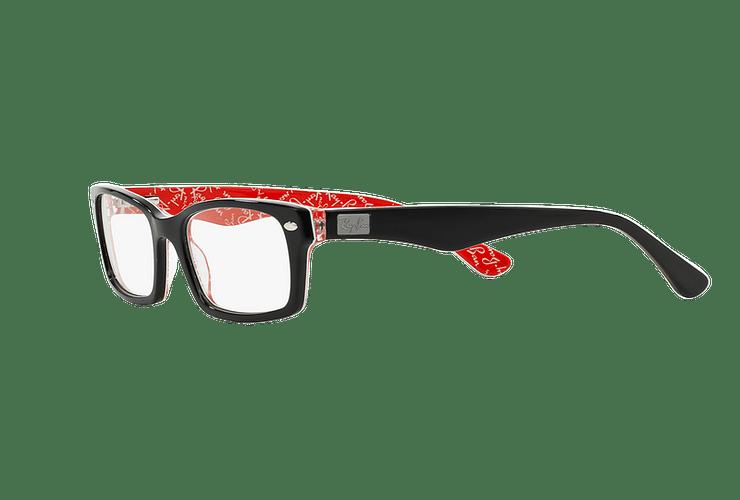 Armazón óptico Ray Ban Rectangular Top Black on Texture Red cod. RX5206 2479 54 - Image 2