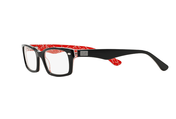 Armazón óptico Ray-Ban Rectangular RX5206 Top Black on Texture Red cod. RX5206 2479 54 - Image 2