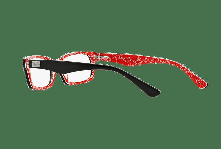 Armazón óptico Ray Ban Rectangular Top Black on Texture Red cod. RX5206 2479 54 - Image 4
