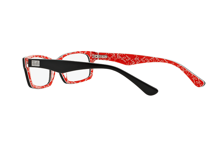 Armazón óptico Ray-Ban Rectangular RX5206 Top Black on Texture Red cod. RX5206 2479 54 - Image 4