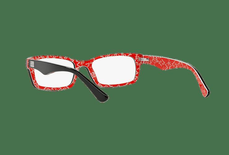 Armazón óptico Ray Ban Rectangular Top Black on Texture Red cod. RX5206 2479 54 - Image 5