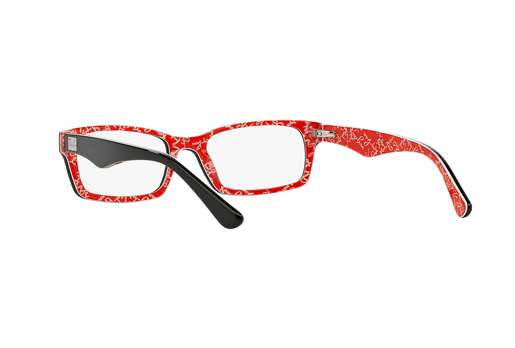 Armazón óptico Ray-Ban Rectangular RX5206 Top Black on Texture Red cod. RX5206 2479 54 - Image 5