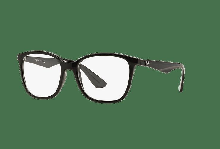 Armazón óptico Ray Ban RX7066 Shiny Black cod. RX7066 2000 54 - Image 1