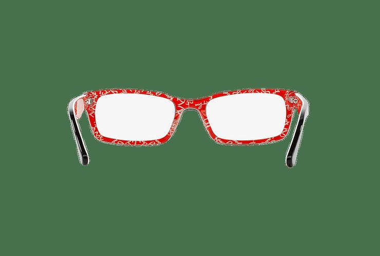 Armazón óptico Ray Ban Rectangular Top Black on Texture Red cod. RX5206 2479 54 - Image 6