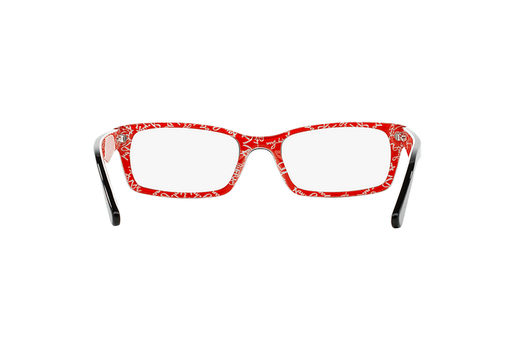 Armazón óptico Ray-Ban Rectangular RX5206 Top Black on Texture Red cod. RX5206 2479 54 - Image 6