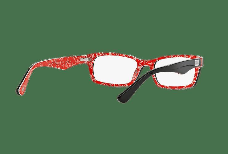 Armazón óptico Ray Ban Rectangular RX5206 Top Black on Texture Red cod. RX5206 2479 54 - Image 7