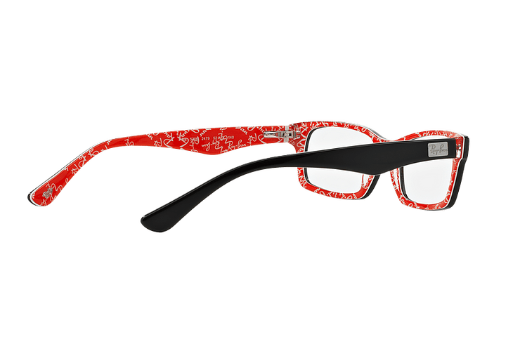 Armazón óptico Ray Ban Rectangular Top Black on Texture Red cod. RX5206 2479 54 - Image 8