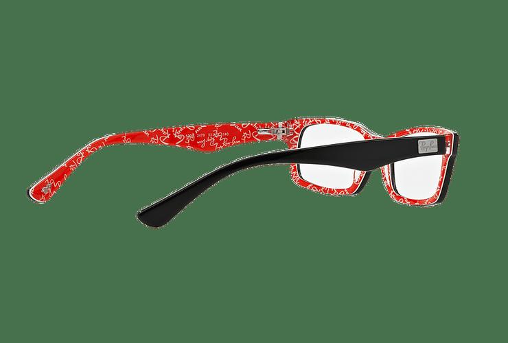 Armazón óptico Ray Ban Rectangular RX5206 Top Black on Texture Red cod. RX5206 2479 54 - Image 8