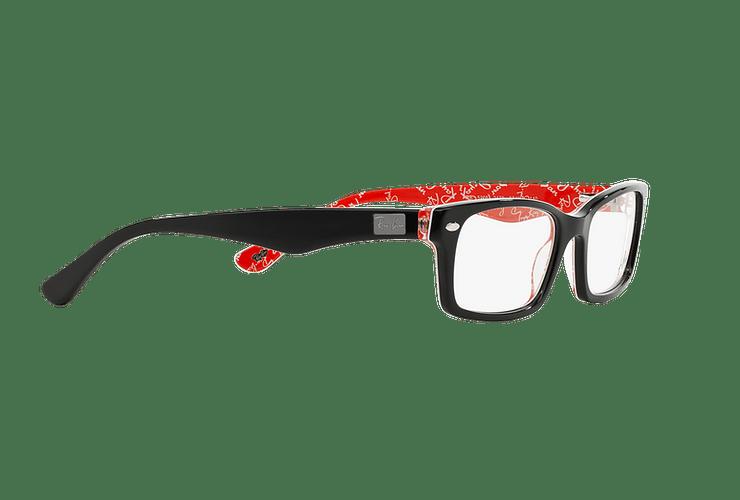 Armazón óptico Ray Ban Rectangular Top Black on Texture Red cod. RX5206 2479 54 - Image 10