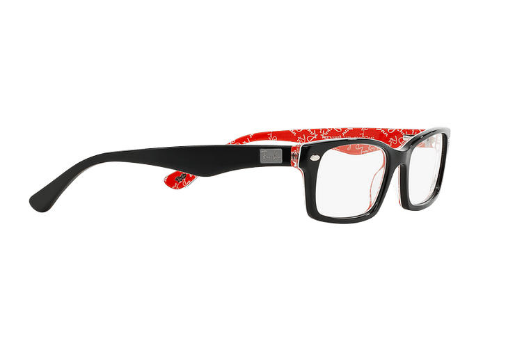 Armazón óptico Ray-Ban Rectangular RX5206 Top Black on Texture Red cod. RX5206 2479 54 - Image 10
