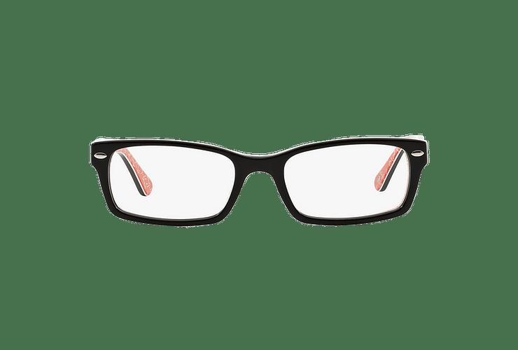 Armazón óptico Ray Ban Rectangular RX5206 Top Black on Texture Red cod. RX5206 2479 54 - Image 12